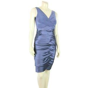 Adrianna Papell Gray Layer Sleeveless Dress Sz 6